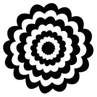 Funky Flower in Black and White Photo Cutout