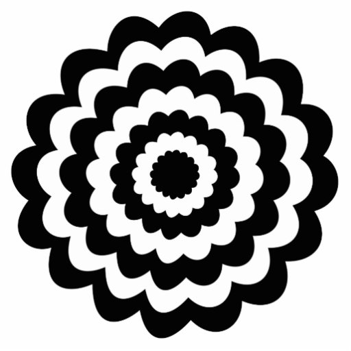 Funky Flower in Black and White. Photo Cutout