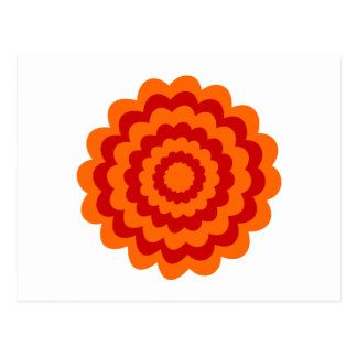 Funky Flower in Orange and Red. Postcard