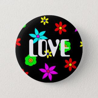 Funky Flower Love Explosion 6 Cm Round Badge