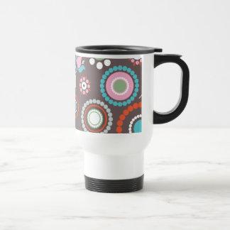 Funky Flowers Retro Patter Coffee Mug