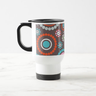 Funky Flowers Retro Patter Stainless Steel Travel Mug