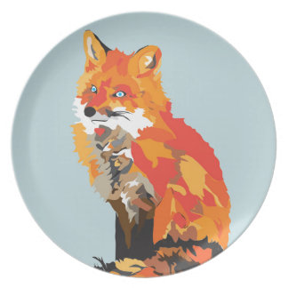 Funky Fox Plate