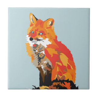 Funky Fox Tile