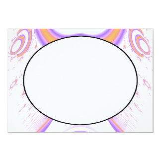 Funky Fractal Pattern. Orange and Purple. Card