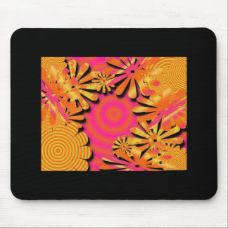 funky fresh flowers mouse mat