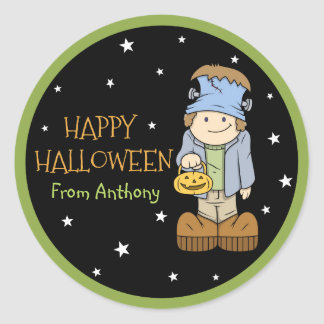 Funky Friends Frankenstein Halloween Sticker