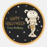 Funky Friends Personalised Mummy Halloween Sticker