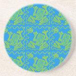 Funky Frog Blue Green Toad Kids Doodle Art