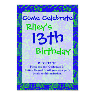 Funky Frog Colorful Toad Kids Doodle Art Gifts 13 Cm X 18 Cm Invitation Card