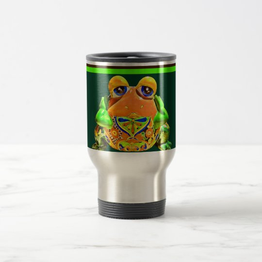 Funky Frog Orange Green Striped Novelty Gifts Travel