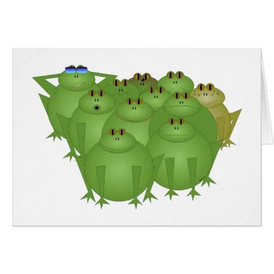Funky Frogs Card