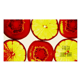 funky fruit fresh juice bar business card