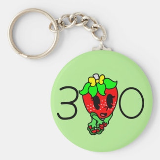 Funky Fruit's Female Strawberry Key Ring