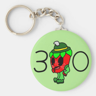 Funky Fruit's Male Strawberry Key Ring