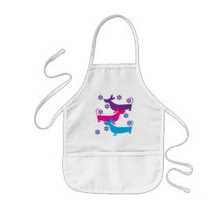 Funky fun retro basset hound dog kids apron