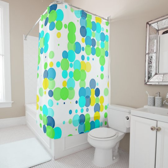 Funky Fun Vibrant Summer Colours Polka Dots Shower