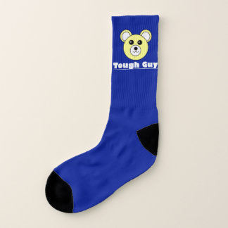 Funky Funny Tough Guy Bear Face Socks 1