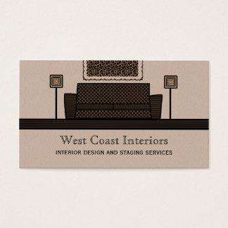 Funky Furniture Business Card, Latte