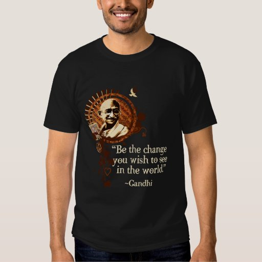 Funky Gandhi -Be the change Tee Shirt