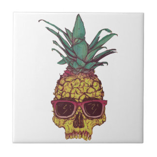 Funky Geek Cool Pineapple Punk Tile