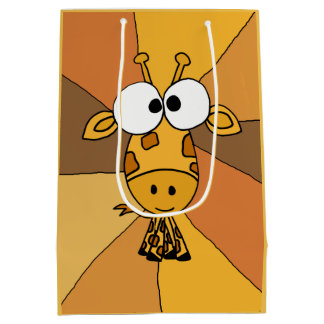 Funky Giraffe Abstract Gift Bag