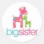 Funky Giraffe Big Sister Tshirt