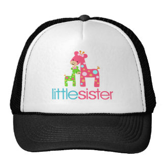 Funky Giraffe Little Sister tshirt Mesh Hats