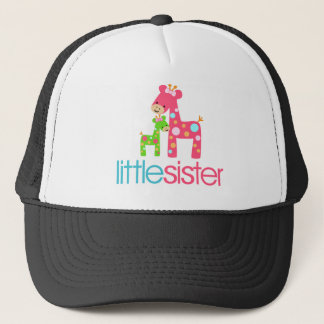 Funky Giraffe Little Sister tshirt Trucker Hat