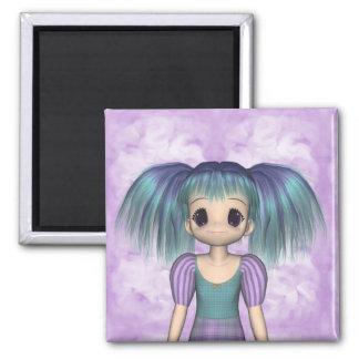 Funky Girl Anime Kid Magnet