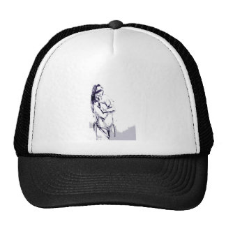 Funky girl design drawing hat