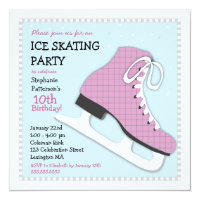 Ice Skating Party Invitations Announcements Zazzlecouk