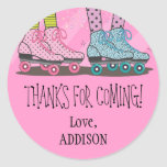 Funky Girls Roller Skating Favour Stickers