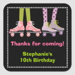 Funky Girls Roller Skating Favour Stickers | Large