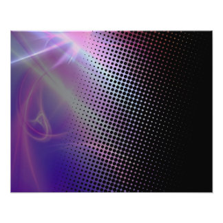 funky girly halftone textured photographic print