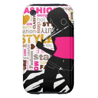 Funky Glam Fashionista Zebra Supermodel iPhone 3 Tough Cover