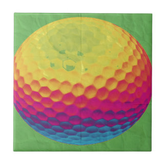 Funky Golf ball Small Square Tile