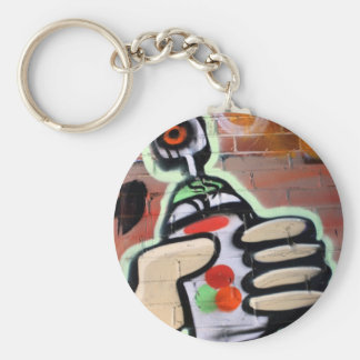 funky graffiti designs basic round button key ring