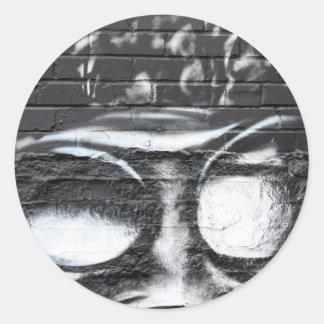 funky graffiti round stickers