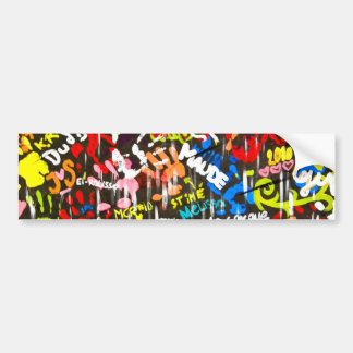 funky graffitis bumper sticker