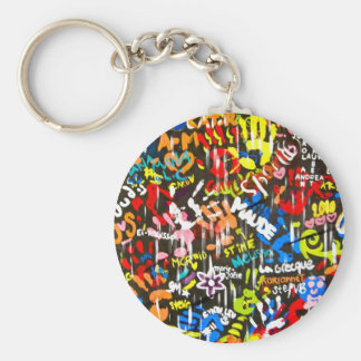 funky graffitis key ring