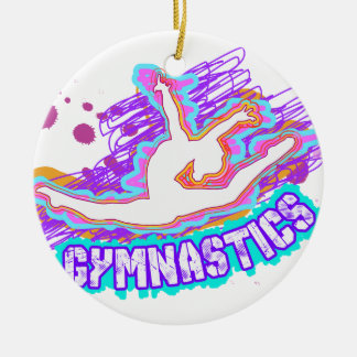 Funky Grafitti Girls Gymnastics Christmas Ornament
