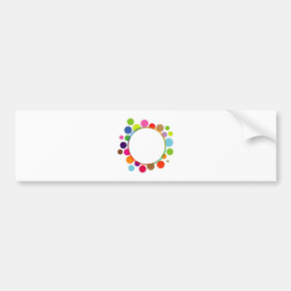 Funky Graphic design element Bumper Sticker