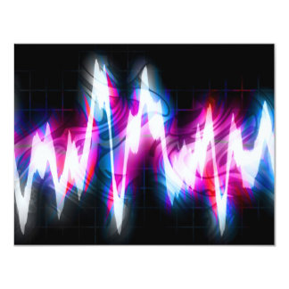 Funky Graphic EQ Audio Waveform 11 Cm X 14 Cm Invitation Card