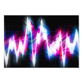 Funky Graphic EQ Audio Waveform 9 Cm X 13 Cm Invitation Card