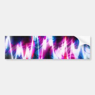 Funky Graphic EQ Audio Waveform Bumper Sticker