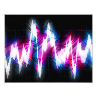 Funky Graphic EQ Audio Waveform Custom Invitations