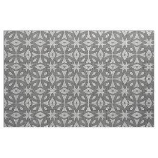 Funky Gray Faux Batik Linen Squares Pattern Fabric