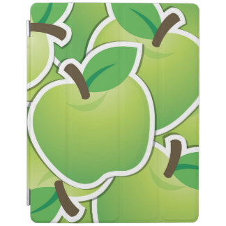 Funky green apples iPad cover