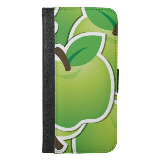 Funky green apples iPhone 6/6s plus wallet case